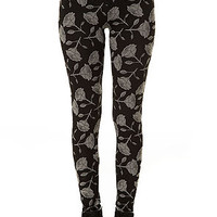 The Black Roses Legging in Black