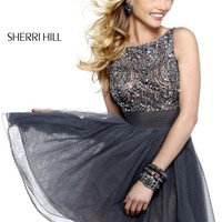 Sherri Hill 11032 Beaded Cocktail Dress