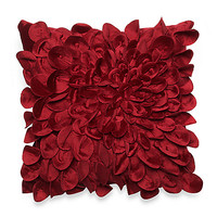 Starburst Petal Layered 16-Inch Square Decorative Toss Pillow