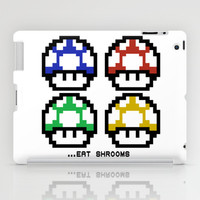 EAT SHROOMS iPad Case by John Medbury (LAZY J Studios)