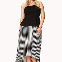 Bold Striped High-Low Skirt
