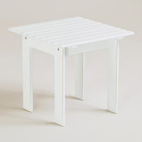 Antique-White Classic Adirondack Side Table