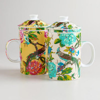 English Garden Infuser Mugs, Set of 2