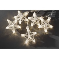 Konstsmide Set of 10 Star Lights with 60 Warm White LED's - Konstsmide from Castlegate Lights UK