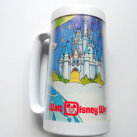 Vintage Walt Disney World ThermoServ Plastic Mug 1970s