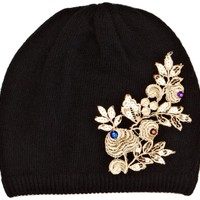 Alice Hannah Gold Lace with Gem Women's Hat