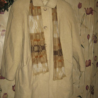 Amazing vintage wool 3/4 length coat by ALORNA with matching scarf