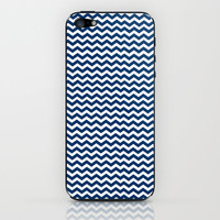Chevron Pattern Blue iPhone & iPod Skin by productoslocos