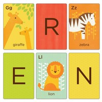 Buy Petit Collage's Animals A-Z Alphabet Art Cards
