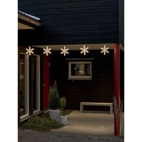 Konstsmide Warm White LED Snowflake Light Set - Konstsmide from Castlegate Lights UK