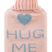 The Hug Me Hot Water Bottle in Pink