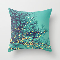 twinkle lights Throw Pillow by Sylvia Cook Photography