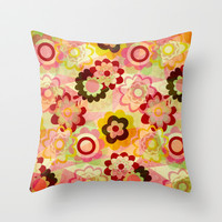 Colorful MIX Throw Pillow by Louise Machado