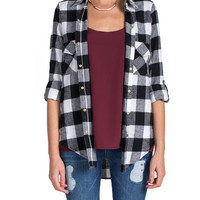 B&W Checkered Flannel