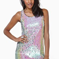 Electric Dream Sequin Dress