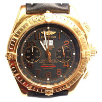 Breitling Yellow Gold Crosswind Limited Edition Chronograph Wristwatch