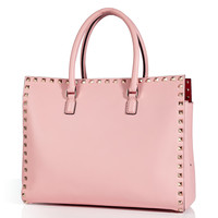 Valentino - Leather Studded Shopper Tote