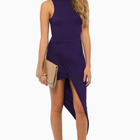 Turtleneck Drape Midi Dress $30