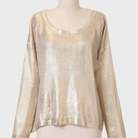 Your Lucky Stars Metallic Sweater