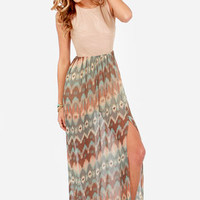 Sunset on the Mesa Southwest Print Maxi Dress