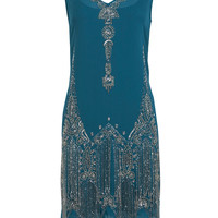 Teal Flapper Dress