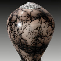 Burnished Horsehair 120 by Ron Mello: Ceramic Vessel | Artful Home