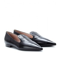 LEATHER SLIPPER-STYLE LOAFERS