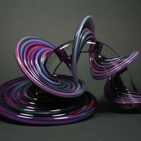 Purple and Blue Mix Heechee Probe by Thomas Kelly: Art Glass Sculpture | Artful Home
