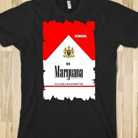 MARIJUANA cannabis CIGARETTES RED PACK TEE TSHIRT