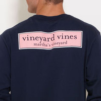 Long-Sleeve vineyard vines Rectangle Logo Graphic T-Shirt