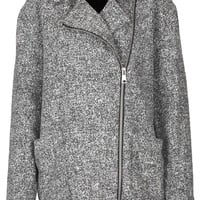 Grey Textured Ovoid Coat