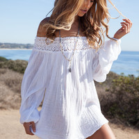 Jen's Pirate Booty Whipping post tunic in white