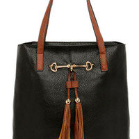 Two Peas in a Pod Black Tote