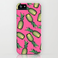 Pineapple Pattern iPhone & iPod Case by Georgiana Paraschiv