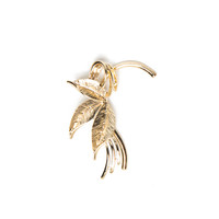 Metal Leaf Ear Cuff