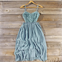 Frosty Sage Party Dress