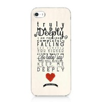 One Direction Truly Madly Deeply Case Hard Cover for Iphone 5 5s 2013 New