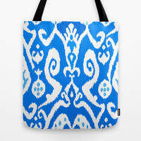 ikat in Electric Dip Tote Bag by Miranda J. Friedman