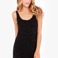 Black Swan North Star Beaded Black Dress
