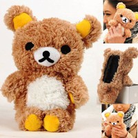 Authentic iPlush Plush Toy Case (iTouch 5, Brown Bear)