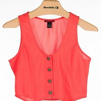 BKE red Cropped Vest