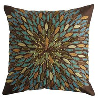 Metallic Leaves Pillow