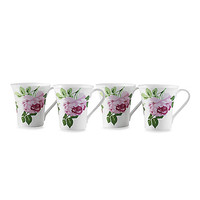 Summer Rose 10-Ounce Mugs (Set of 4)