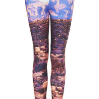 Desert Scene Printed Leggings