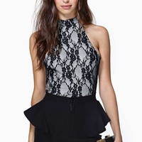 Nasty Gal Viola Lace Crop Tank