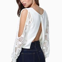 Nasty Gal Snow Storm Crop Knit