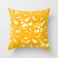The Golden Garden  Throw Pillow by Lauren Lee Designs