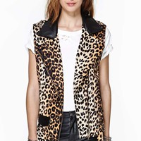 Cat Scratch Velvet Moto Vest