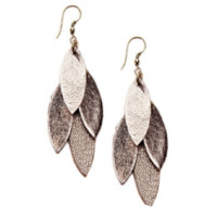 Zia Vine Leather Earrings | Perch and Pantry