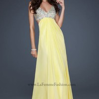 Sequined evening gown by La Femme